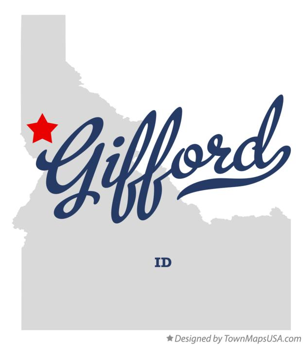 Map of Gifford Idaho ID