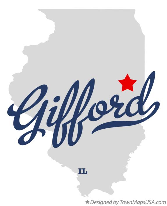 Map of Gifford Illinois IL