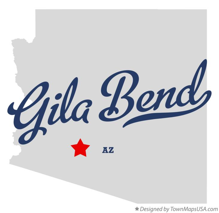 Map of Gila Bend Arizona AZ