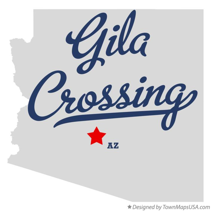 Map of Gila Crossing Arizona AZ