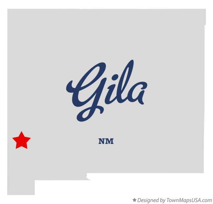 Map of Gila New Mexico NM