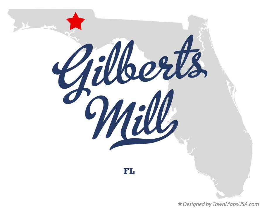 Map of Gilberts Mill Florida FL