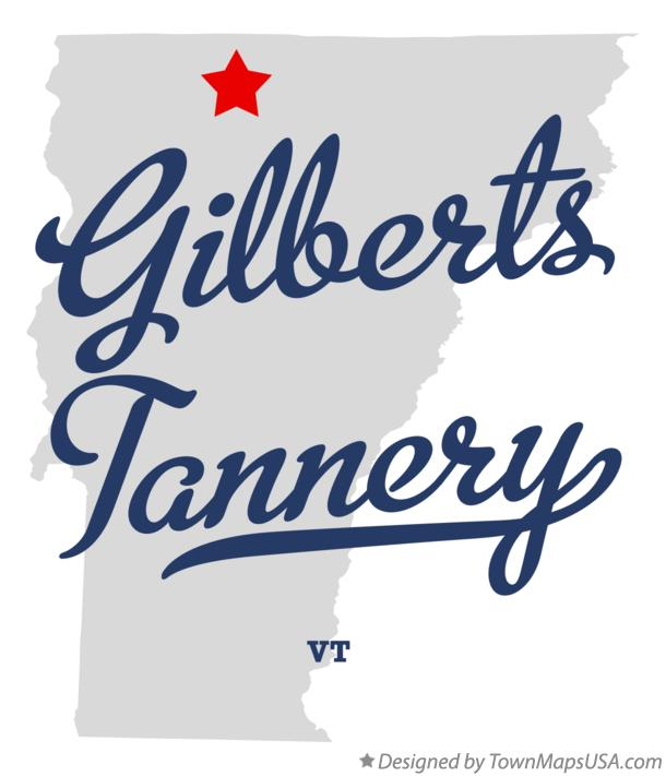 Map of Gilberts Tannery Vermont VT