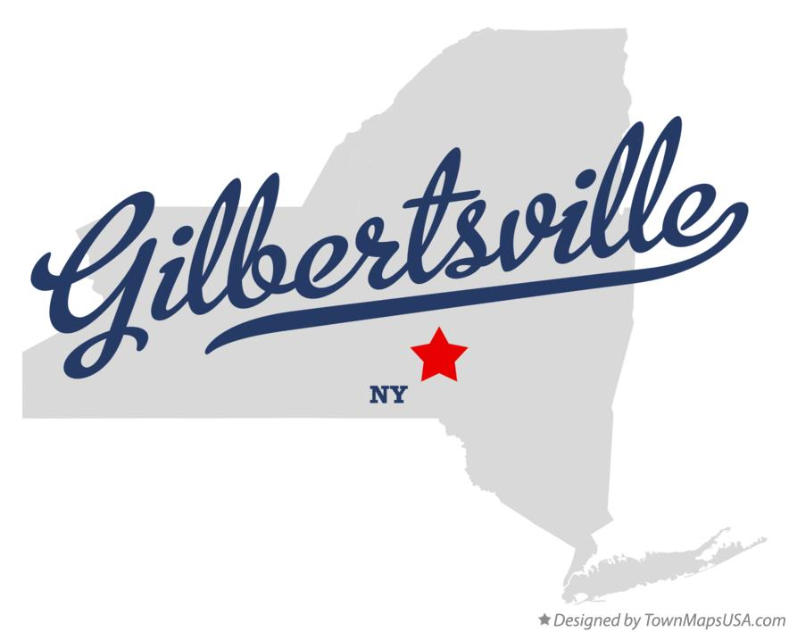 Map of Gilbertsville New York NY