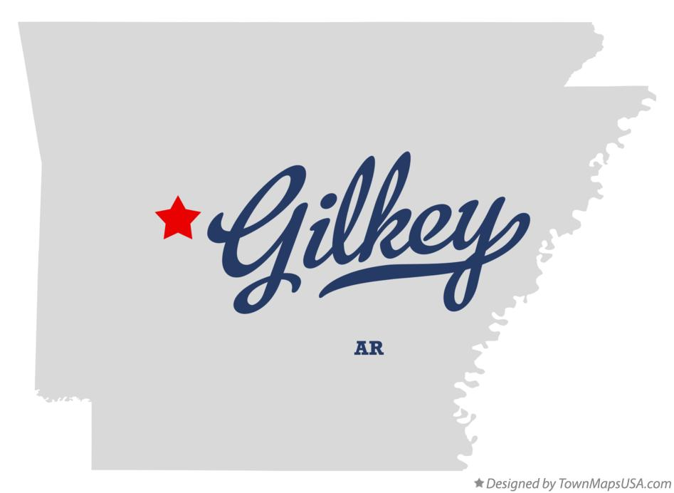 Map of Gilkey Arkansas AR