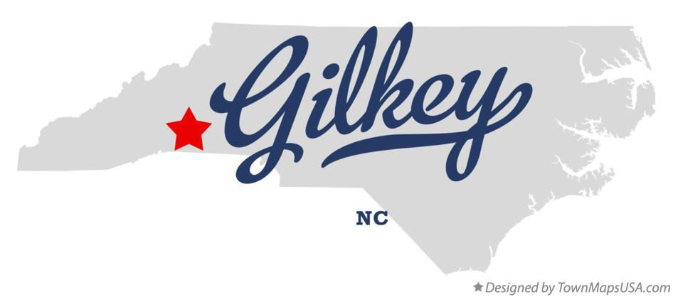 Map of Gilkey North Carolina NC