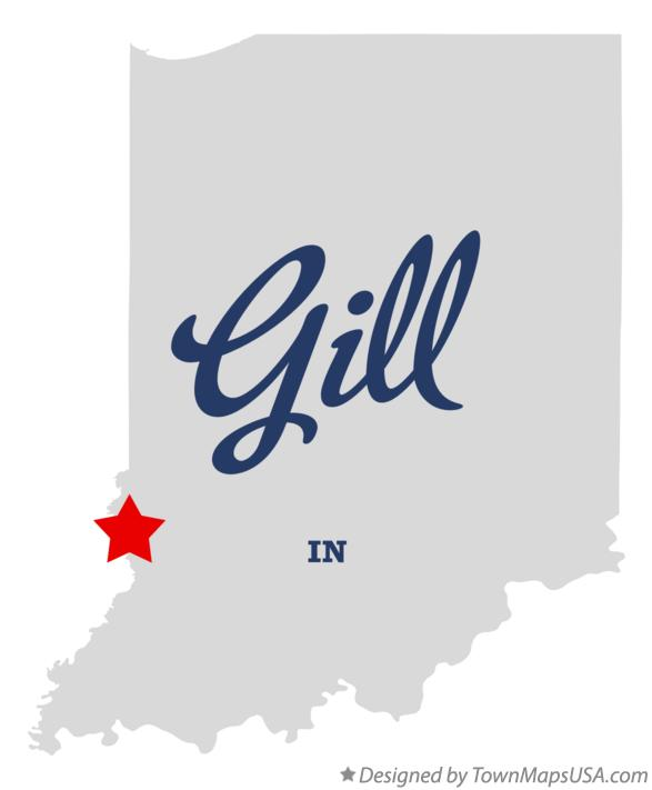 Map of Gill Indiana IN