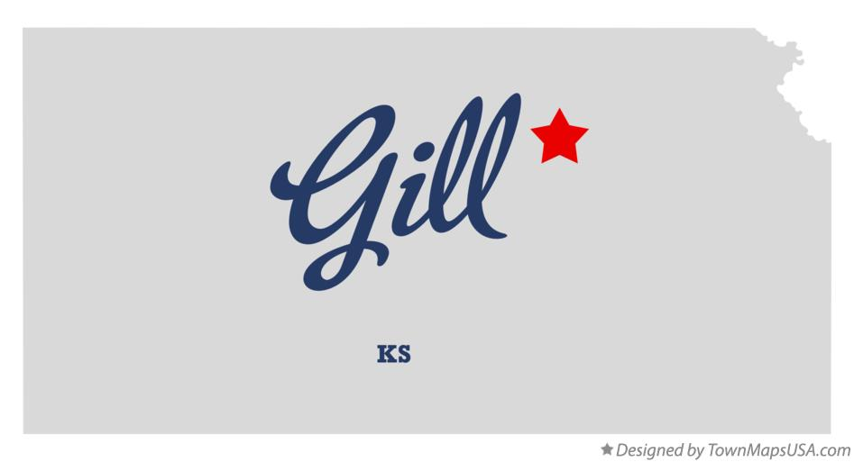 Map of Gill Kansas KS