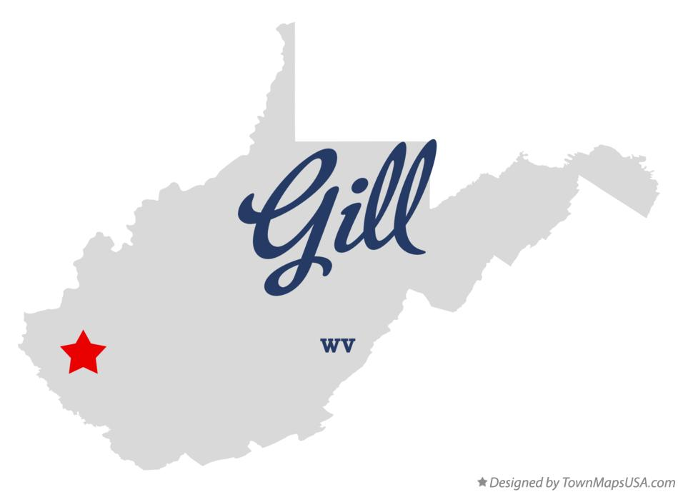 Map of Gill West Virginia WV
