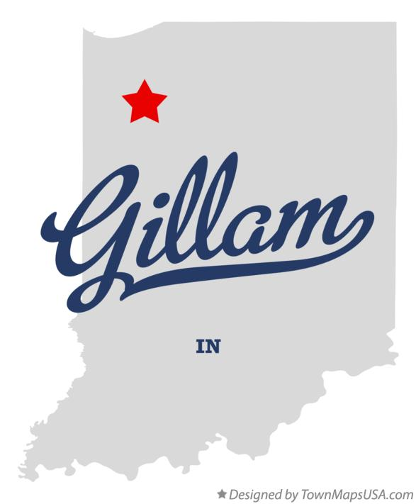 Map of Gillam Indiana IN