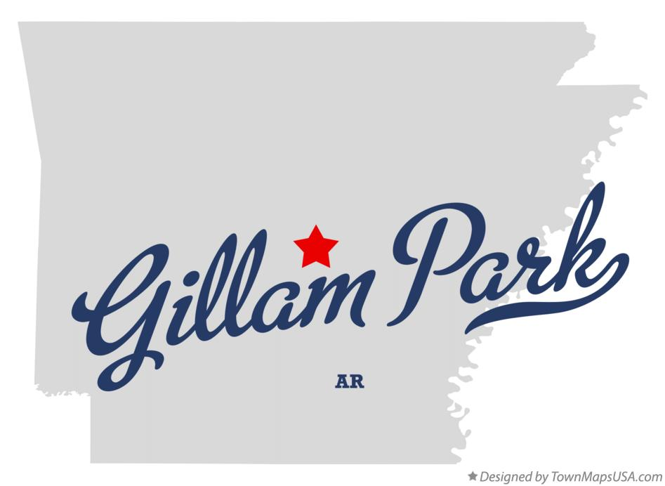 Map of Gillam Park Arkansas AR