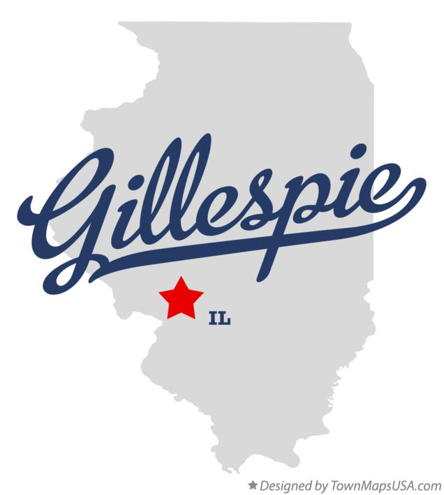 Map of Gillespie Illinois IL