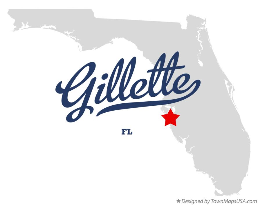 Map of Gillette Florida FL