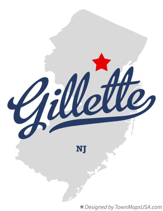 Map of Gillette New Jersey NJ