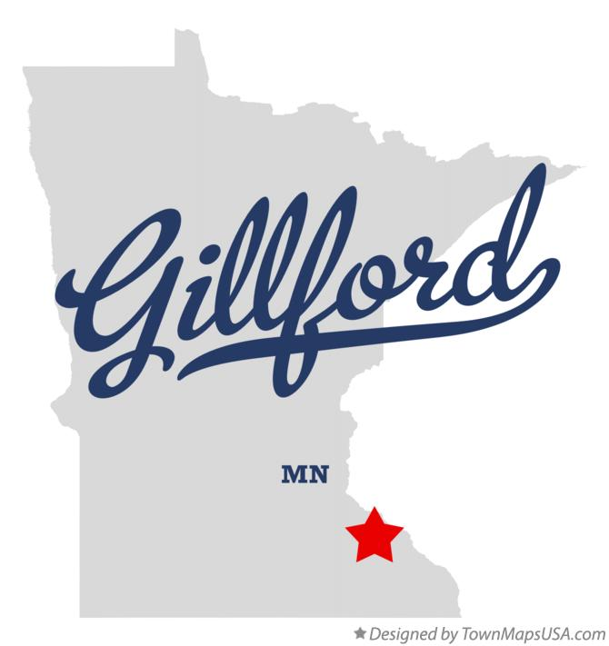 Map of Gillford Minnesota MN