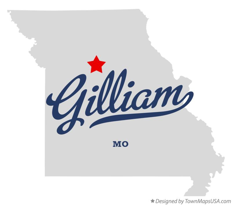 Map of Gilliam Missouri MO