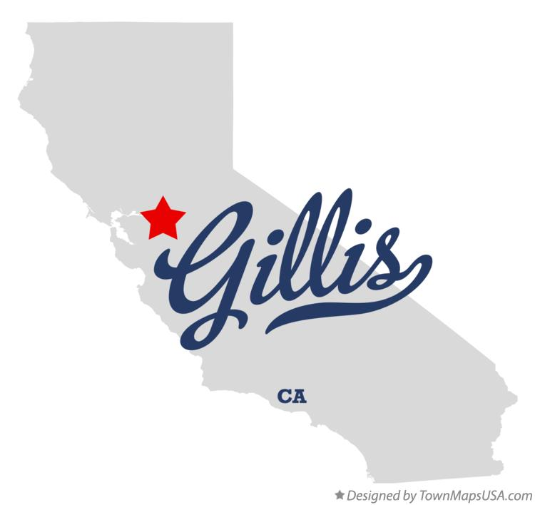 Map of Gillis California CA