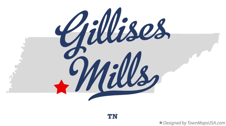 Map of Gillises Mills Tennessee TN
