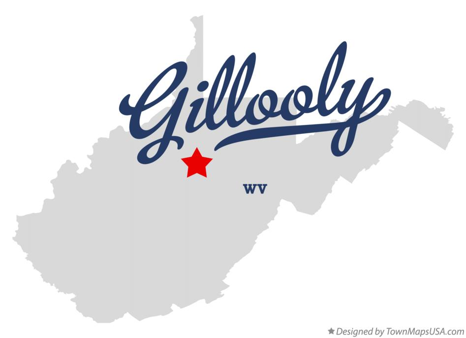 Map of Gillooly West Virginia WV