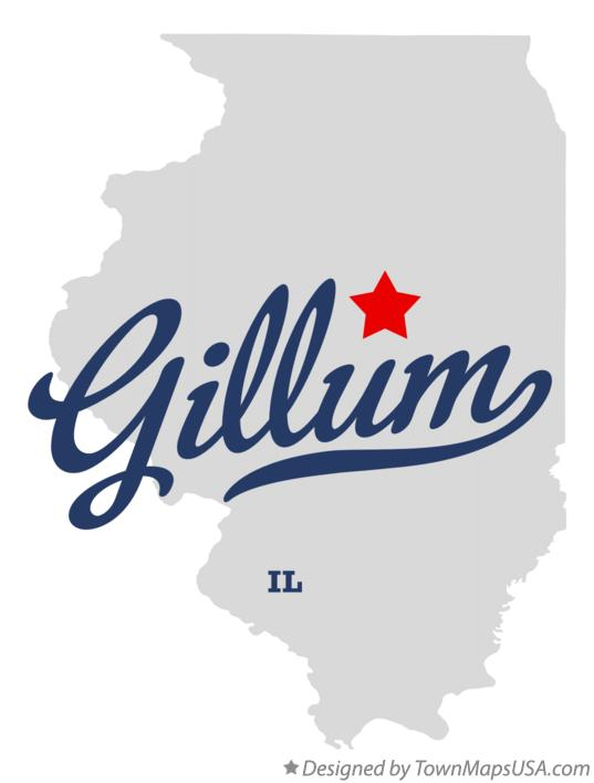 Map of Gillum Illinois IL