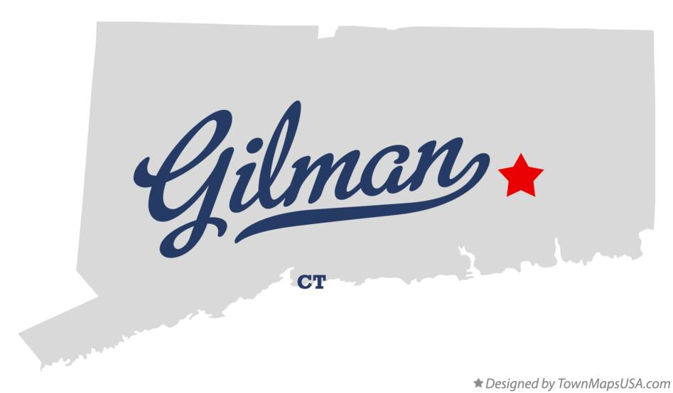 Map of Gilman Connecticut CT