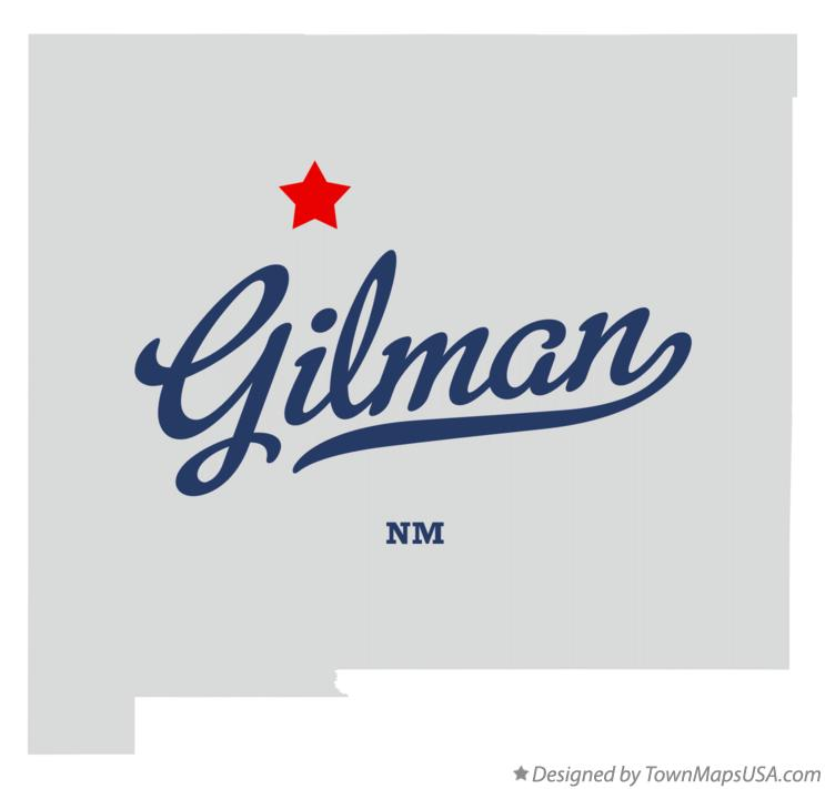 Map of Gilman New Mexico NM