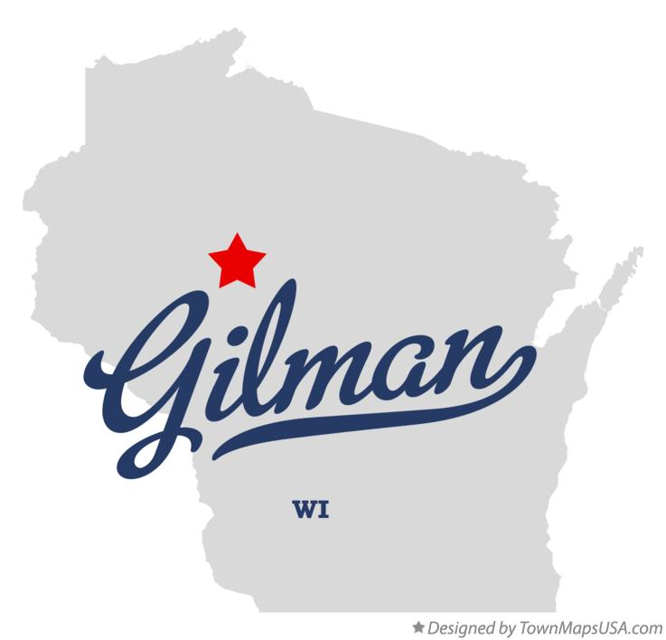 Map of Gilman Wisconsin WI