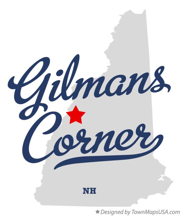 Map of Gilmans Corner New Hampshire NH