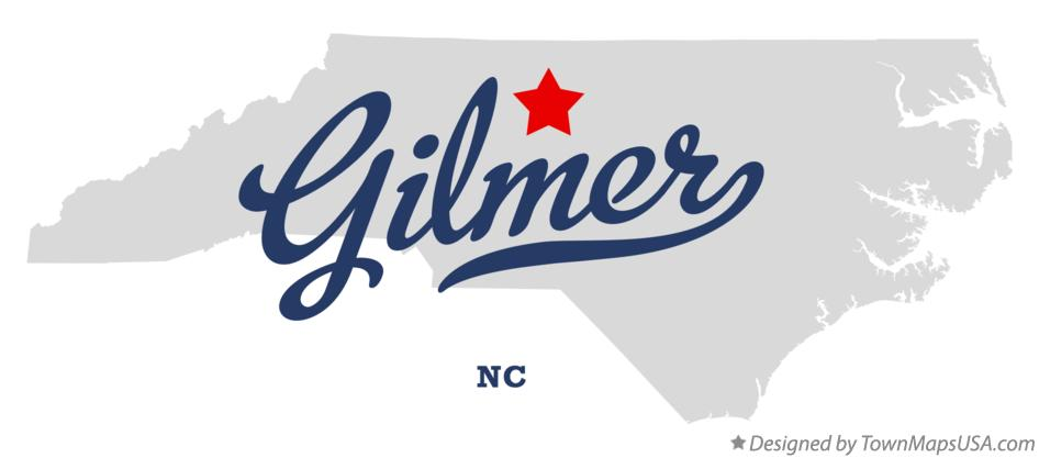 Map of Gilmer North Carolina NC