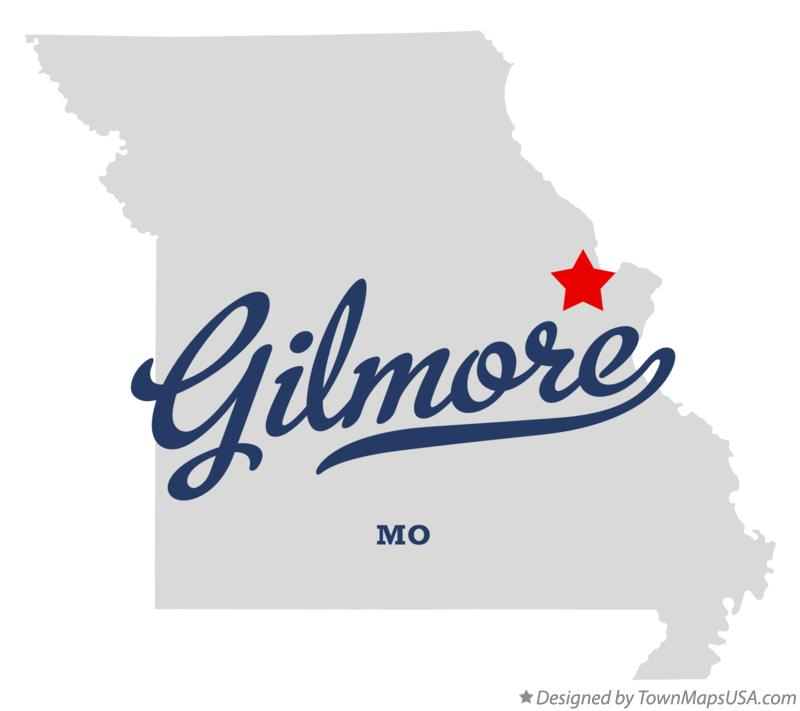 Map of Gilmore Missouri MO