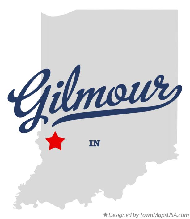 Map of Gilmour Indiana IN