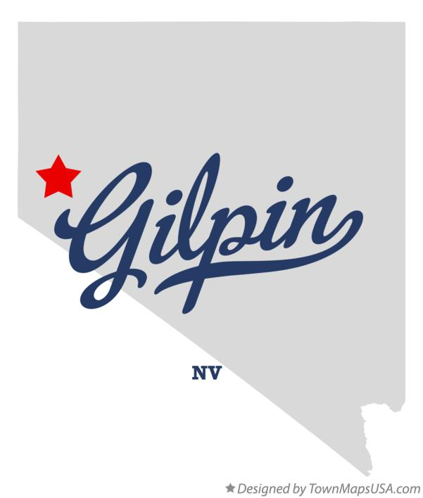 Map of Gilpin Nevada NV