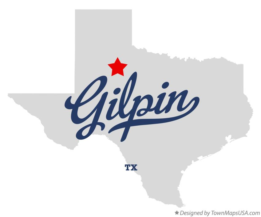 Map of Gilpin Texas TX