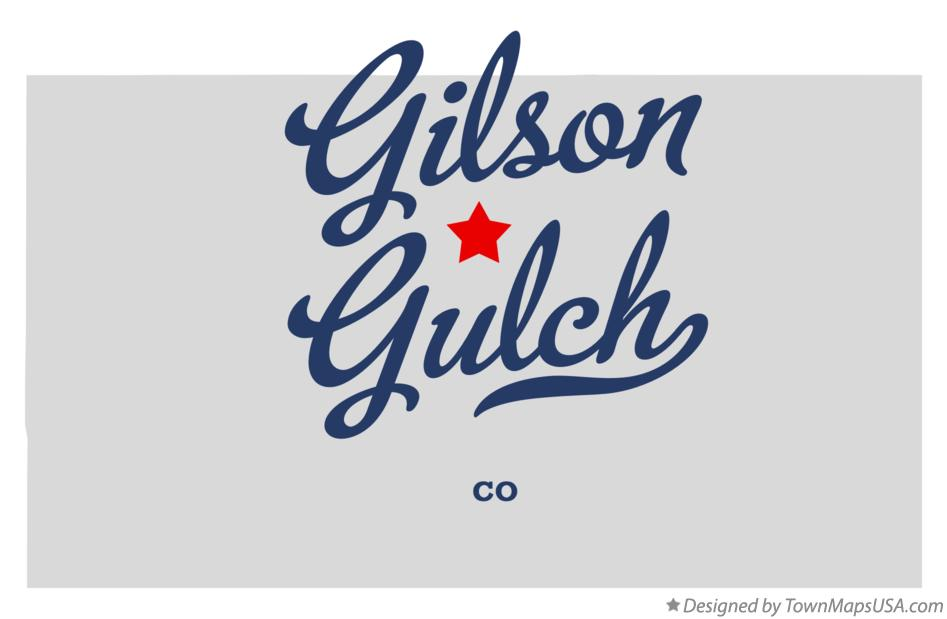 Map of Gilson Gulch Colorado CO
