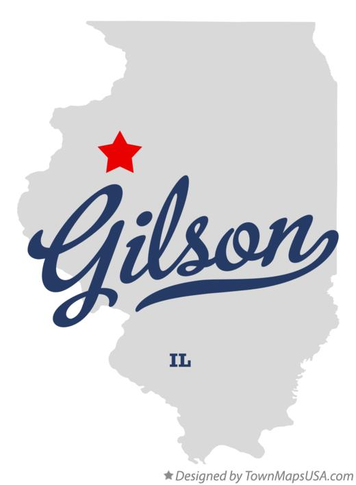Map of Gilson Illinois IL