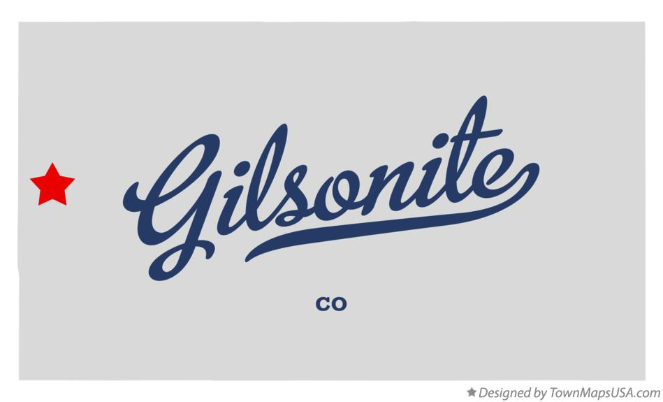 Map of Gilsonite Colorado CO