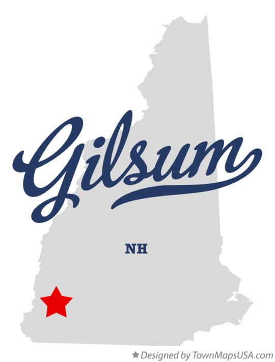 Map of Gilsum New Hampshire NH