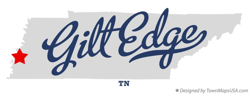 Map of Gilt Edge Tennessee TN