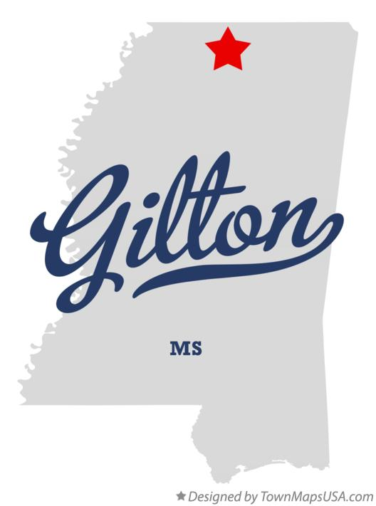 Map of Gilton Mississippi MS