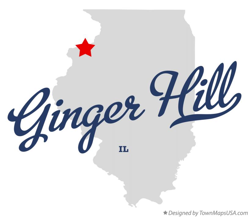 Map of Ginger Hill Illinois IL