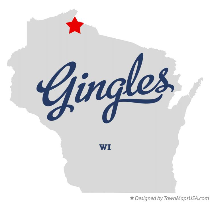 Map of Gingles Wisconsin WI
