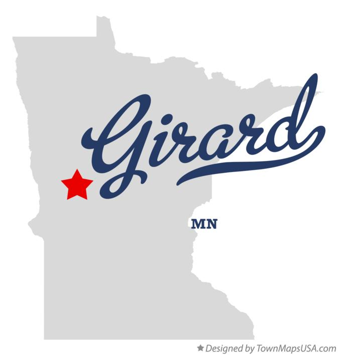 Map of Girard Minnesota MN