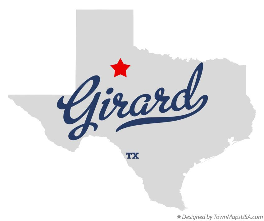 Map of Girard Texas TX