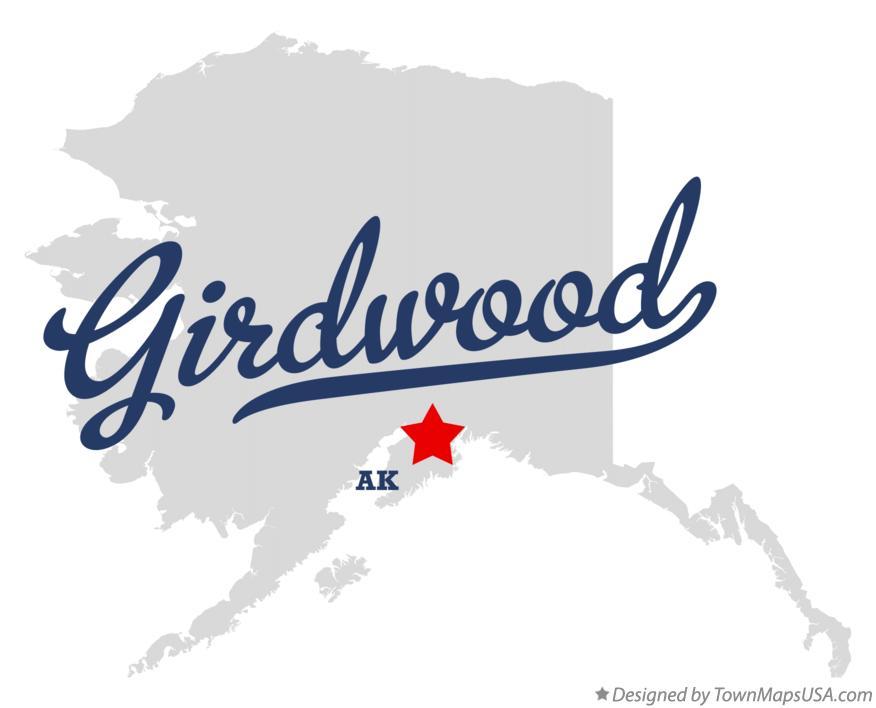 Map Of Girdwood Ak Alaska