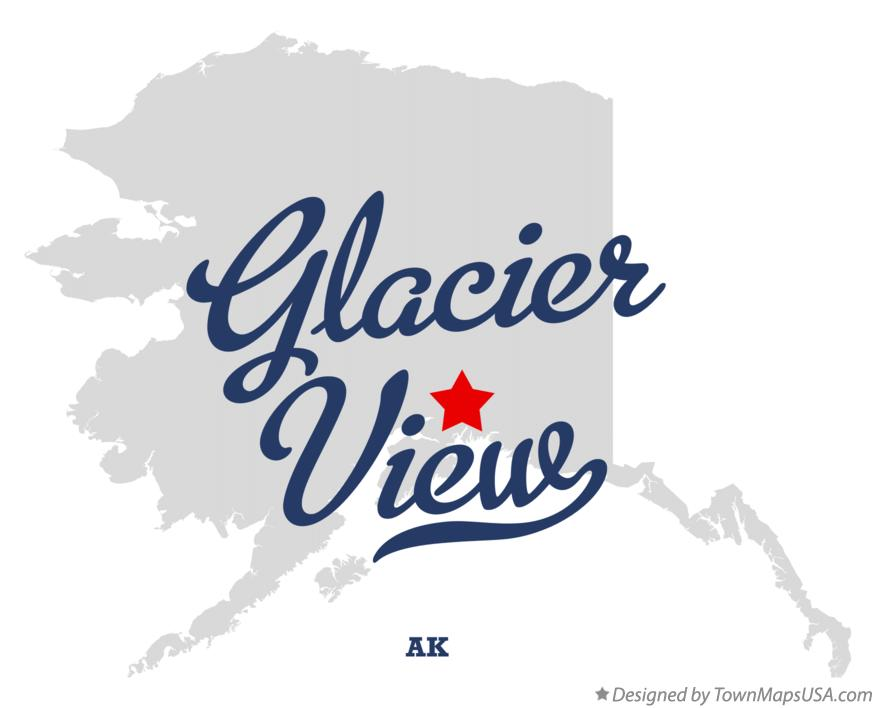 Map of Glacier View Alaska AK