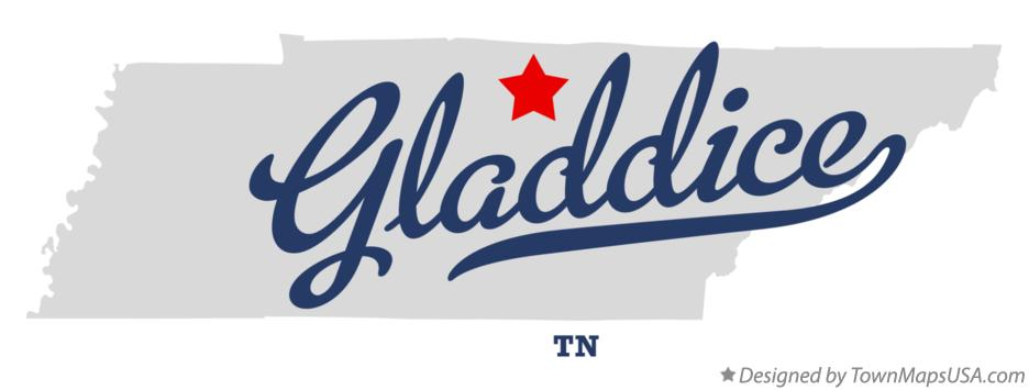 Map of Gladdice Tennessee TN