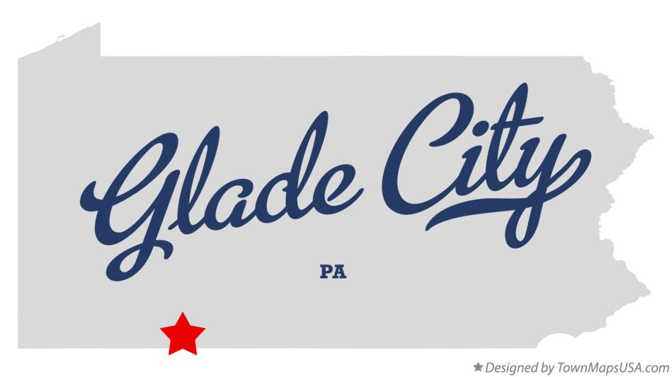 Map of Glade City Pennsylvania PA
