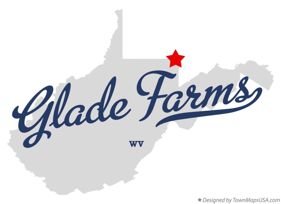 Map of Glade Farms West Virginia WV