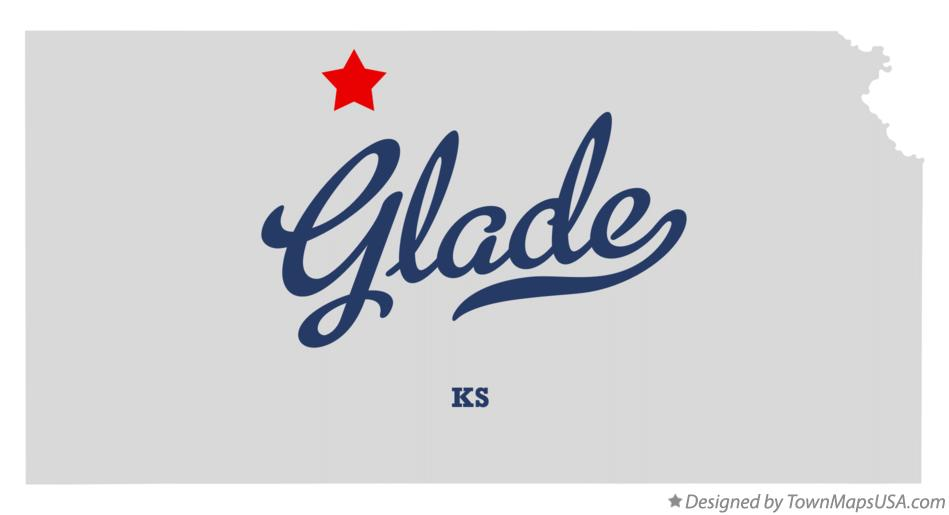 Map of Glade Kansas KS
