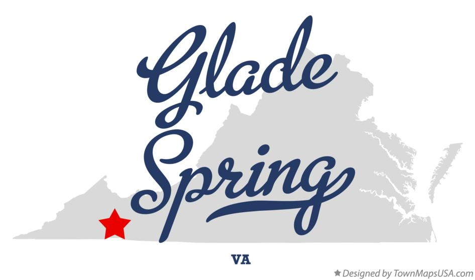 Map of Glade Spring Virginia VA